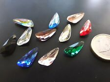 6 Auf 90 Kristalle Farben Triangle Irreg P 7,8x18 (CRIS-33) Halsketten Armband