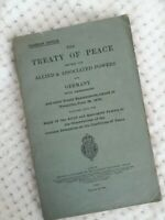 The Treaty of Peace Allied & Associated Powers & Germany 1919 ~353pp 1925 ed