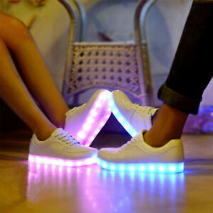 Adults Men Women Light Up Shoes LED Flashing Trainers Casual Sneakers Size UK