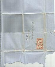 US 10A 3c Washington Used Stamp Samuel Prioleau Daniel Ravenel ESQ July 1st 1854