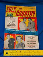 1958 Folk & Country Songs Music Magazine Hank Locklin Eddy Arnold Marty Robbins