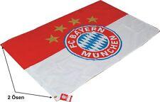 FC Bayern  Fahne Logo mit zwei  Ösen 150x100cm