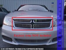 GTG 2011 - 2014 Dodge Avenger 4PC Polished Overlay Upper Billet Grille Grill Kit
