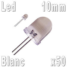 50x LED 10mm Blanches 35000mcd