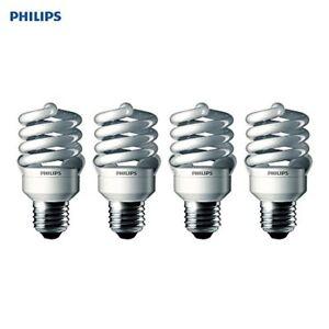 Philips Energy Saver 100W Daylight Medium Base T2 Spiral CFL Light Bulb (4-Pk)