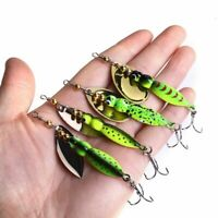 Insects Spinner Bait 7cm 15g Fishing Lure Spoon Bass Artificial Metal Pike Bass