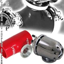 "Turbo Blow Off Valve Bov Gunmetal Jdm Sport 2.5"" Reinforce Silicone Adapter Red"