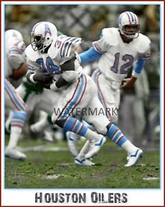 Houston Oilers Earl Campbell PRINT (comes in 3 sizes)