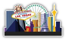 Las Vegas Welcome City Label Car Bumper Sticker Decal 5'' x 3''