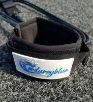 Corduroyblue Leash, Leg Rope 6ft 7mm Regular Black