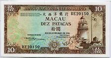 Macao macao - 10 dic patacas - 1984/kassenfr., UNC