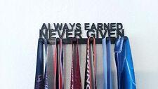 Always Earned Never Given Sports Race Medal Display Rack Holder Hanger Organizer