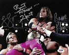 Razor Ramon Bret Hart Lex Luger Signed 8x10 Photo PSA/DNA COA WWE Wrestlemania X