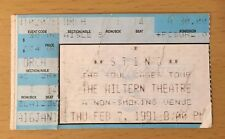 1991 Sting The Soul Cages Tour Los Angeles Concert Ticket Stub Police Roxanne 4
