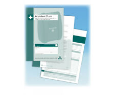 A4 ACCIDENT BOOK/FIRST AID INJURY RECORD BOOK/WORK PLACE STAFF ACCIDENT LOG BOOK