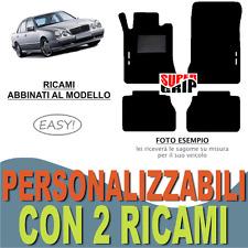 PER MERCEDES CLASSE E W210 TAPPETI AUTO MOQUETTE E FONDO GOMMA + 2 RICAMI EASY