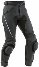 BLACK-MEN/WOMEN Motorbike Leather Trouser Motorcycle Racing Pant 100% Genuine