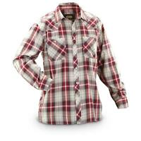 Guide Gear Men's Western Shirt Plaid Long Sleeve Red  Indigo - Rodeo Farm - Gift