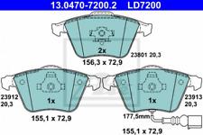 Ceramic Bremsbelagsatz, Scheibenbremse Vorderachse ATE 13.0470-7200.2