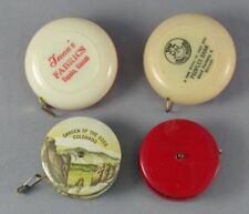 4 Vintage Sewing Tape Measures - Celluloid, Garden Of The Gods, Advertising