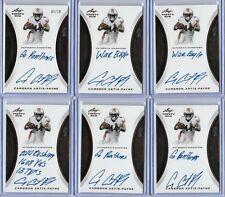 "2015 Leaf Trinity Cameron Artis-Payne Bronze Foil Inscription Auto ""Go Panthers"""