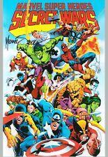Marvel Super Heroes Secret Wars Spider-Man Mike Zeck Signed High Quality Print B