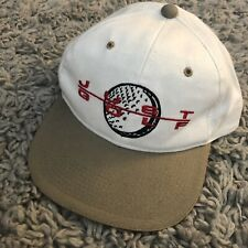 Just Golf Swing Man Clubs Form Logo Strap Back Hat Cap Vintage 2000s Club golfin