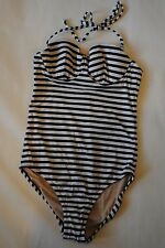 NWT J Crew Sailor-Stripe Underwire Tank IVORY NAVY 6 Small A1524 $115