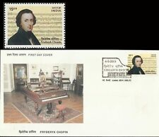Fredryk Chopin Polish India FDC classical Music Composer POLAND Piano musik Inde