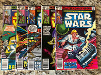 STAR WARS Run #26 27 28 29 30 NEWSSTAND LOT 1977 MARVEL 1st Prints!