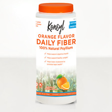 Konsyl Psyllium Fiber Orange Flavor 19oz (pack of 3) psyllium husk
