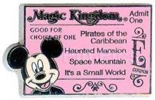 Disney Pin: WDW Cast Lanyard Series 3 Magic Kingdom Ticket (E/Mickey Mouse)