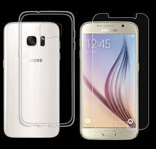 Samsung Galaxy S6 TPU Silikon Schutz Hülle Cover Bumper Case + PANZER GLAS Folie