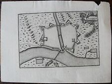 CARTE BAYONNE . Par TASSIN. Carte originale de 1633.  Dimensions de la feuille: