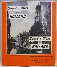 NETHERLANDS TOURISM BROCHURE SPEND A WEEK IN HOLLAND 1930S VINTAGE TRAVEL