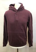 ANIMAL Mens Hoodie Jumper S Small Burgundy