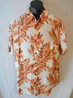 Margaritaville Rayon Short Slve Hawaiian Button Front Shirt SR$68 NEW