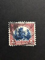 GandG US Stamps #573 Head Of Freedom $5 Used Perfin