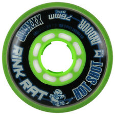 RINK RAT Single Wheel Hot Shot Black/Green 76mm 76a Inline Indoor Hockey