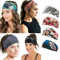 Boho Women Floral Wide Elastic Headband Hair Bands Sweatband Sport Yoga Headwrap