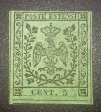Modena 1852 5 cent senza punto nuovo sg cat. 1625 euro