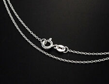 925 Sterling Silver Fine Cable Chain Necklace , Delicated chain , 18 inches