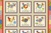 "Henry Glass Henry Glass Little Red Hen by Dana Brooks 9856P 48 24"" COTTON FABRIC"