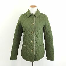 L.L. Bean Quilted Green Jacket Thermore Insulated Plaid Lining Women's Size S