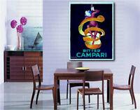 Bitter Campari by Leonetto Cappiello Canvas Art Poster Repro Print