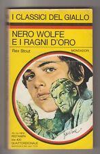 STOUT (Rex) - NERO WOLFE E I RAGNI D'ORO, Classici del Giallo n. 149 del 1972
