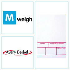 Avery Berkel - 49mm x 75mm Thermal Scale Label - Format 1 White - 6,000 Labels