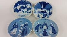 "Lot of 4 Limited Edition Porsgrund Norway ""Julen"" Christmas Plates"