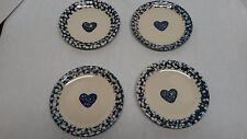 Folk Craft Hearts by Tienshan set of 4 Salad/Dessert Plates