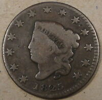 1825 Coronet Large Cent VG